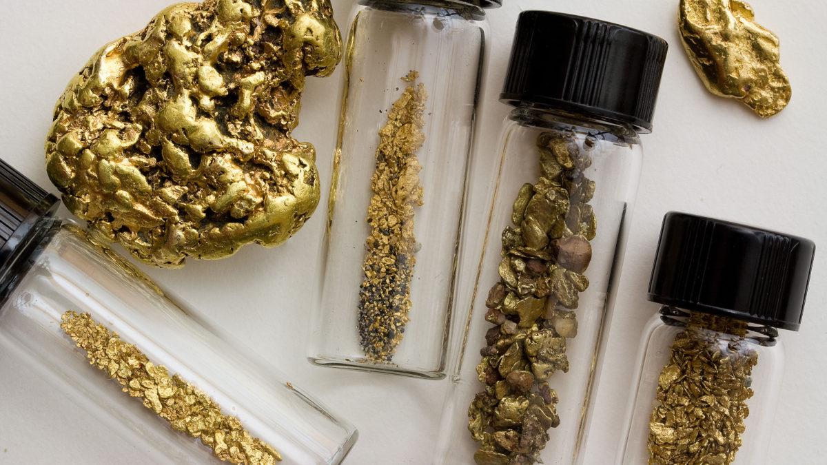 Gold-vials
