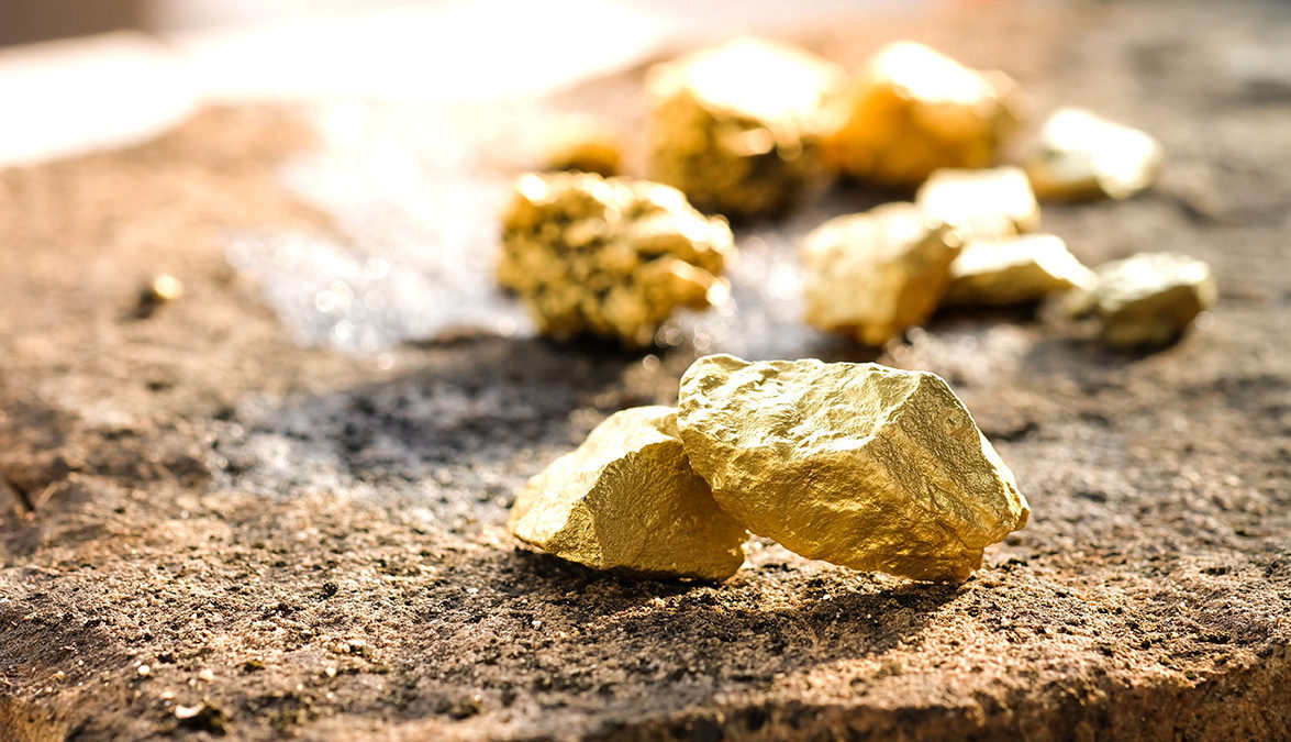 gold nuggets ore
